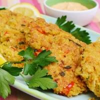 Croquettes de quinoa et pois-chiches et leur mayo épicée