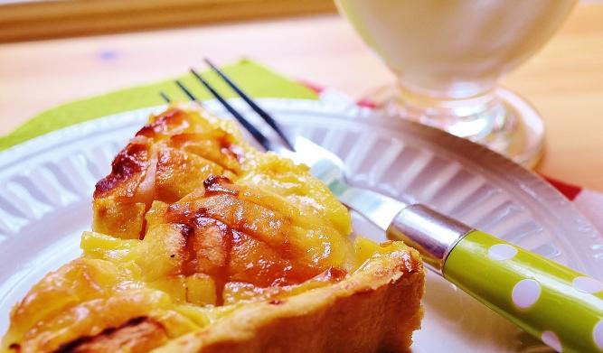 pointe de tarte aux pommes alsacienne