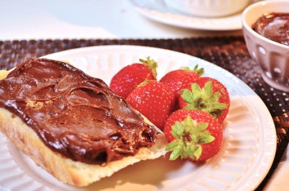 nutella-maison et fraises