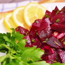 Salade de betteraves miel et cumin - Beet salad with honey and cumin