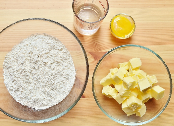 ingrédients pâte brisée
