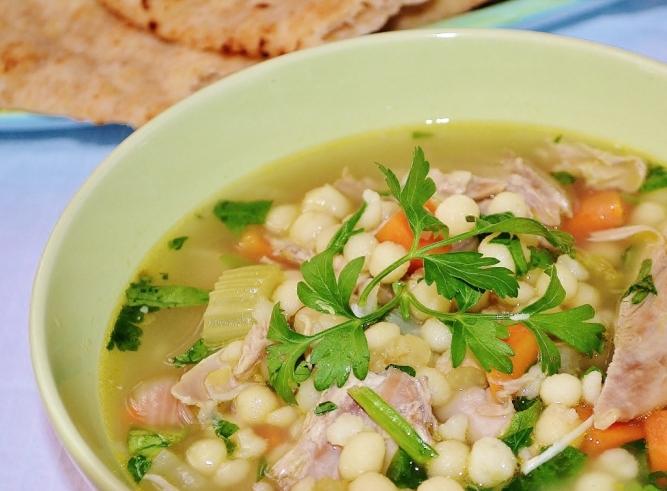 soupe dinde et couscous