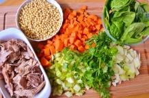 Soupe à la dinde et couscous de Jérusalem - Turkey and Jerusalem couscous soup