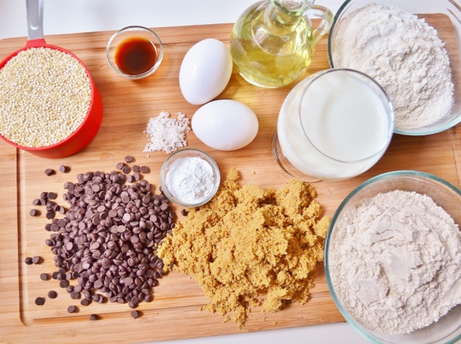 ingredients- quinoa muffins