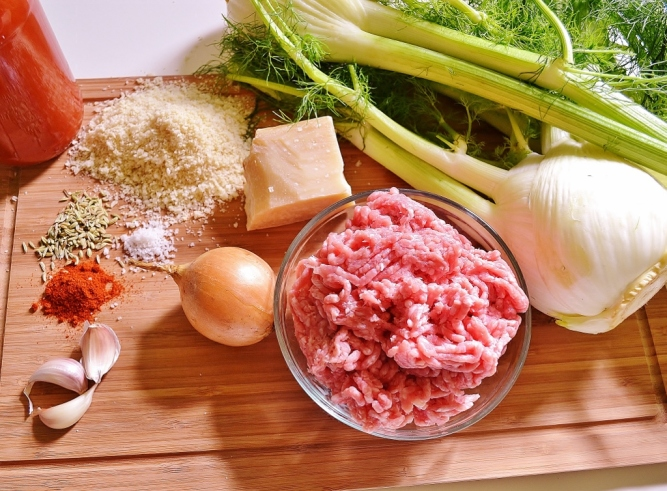 Fenouil farci à l'italienne-ingrédients