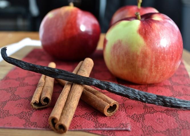 Ingrédients, gâteau aux pommes à l'ancienne