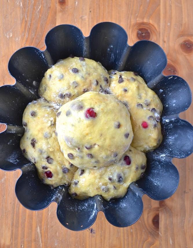Brioche chocolat-canneberges-clémentines