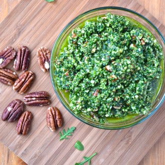 Pesto roquette-pacanes / Arugula pesto with roasted pecans