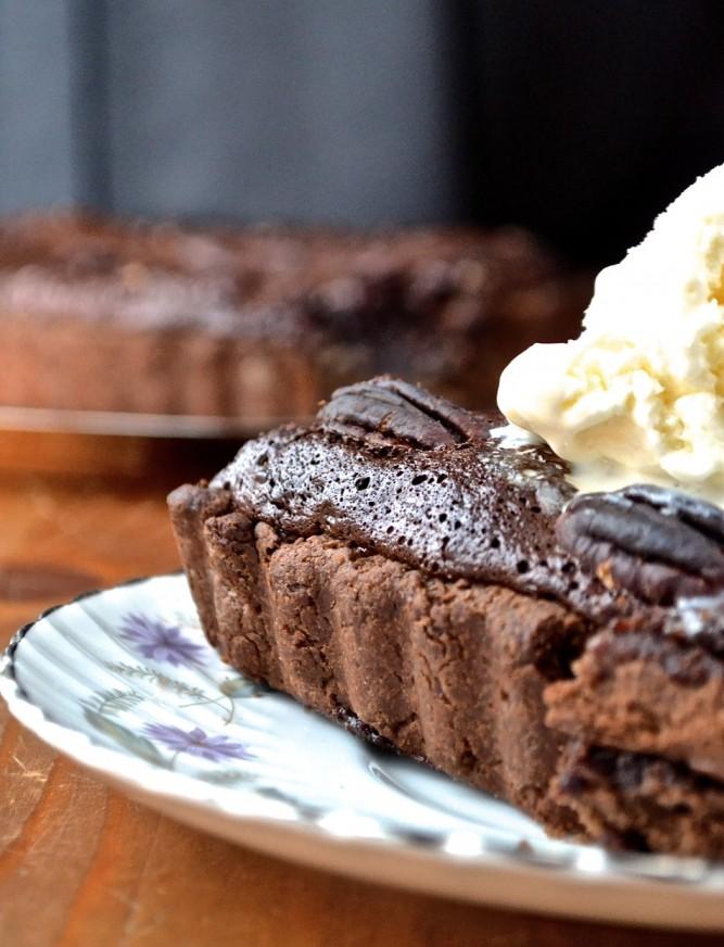 Tarte aux pacanes et au chocolat