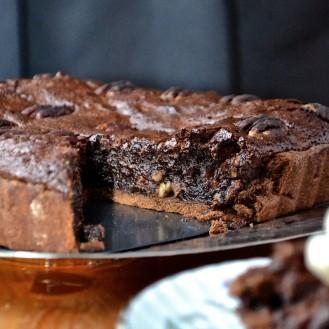 Tarte aux pacanes et chocolat noir- Dark chocolate pecan pie