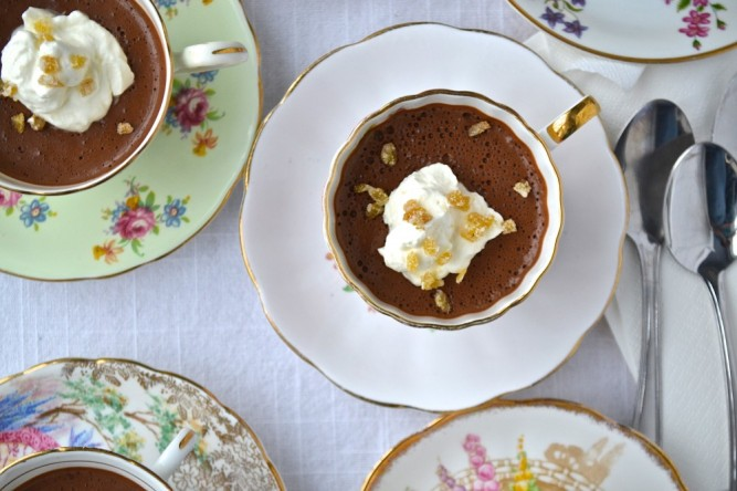 Crèmes au chocolat et épices chai
