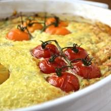 Gratin d'épinards et tomates cerises - Spinach and cherry tomato gratin