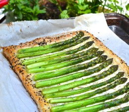 tarte feuilletée asperges et fromage - Asparagus and cheese pie