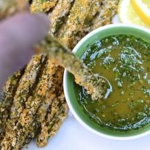 Asperges croustillantes et sauce miel et moutarde