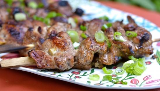 Filet de porc en brochettes au cinq-épices chinois