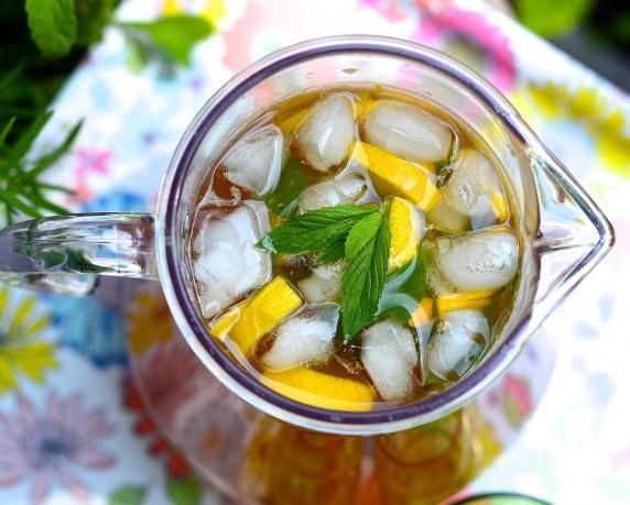 Thé glacé au citron - Lemon iced tea
