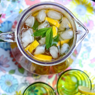 Thé glacé au citron - Lemon iced tea