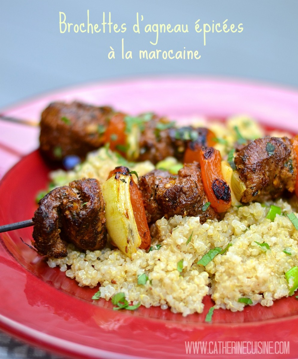 Brochettes d'agneau épicées à la marocaine