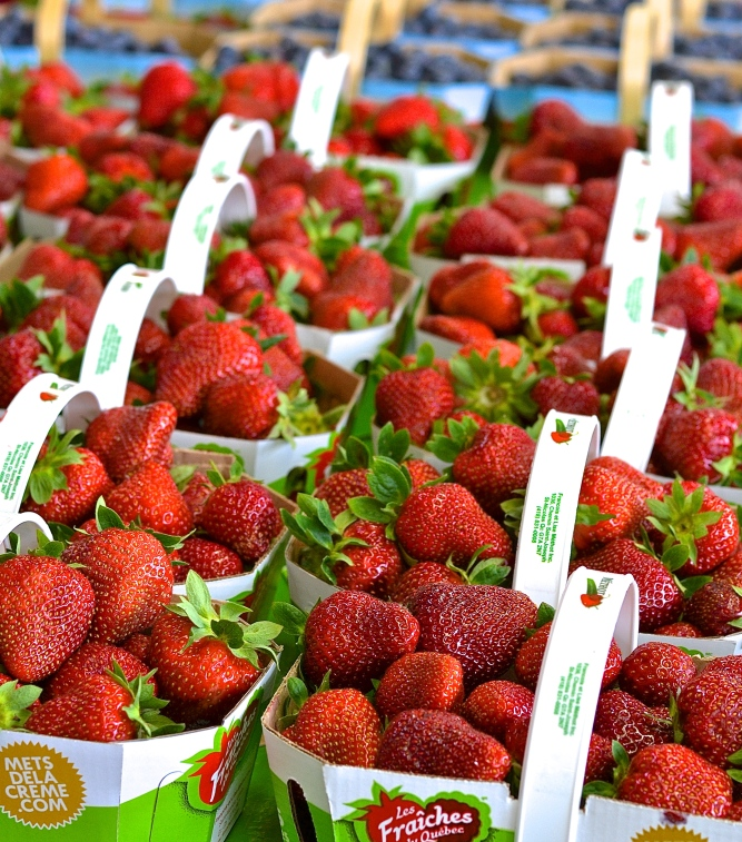 Fraises du marché - strawberries from the market