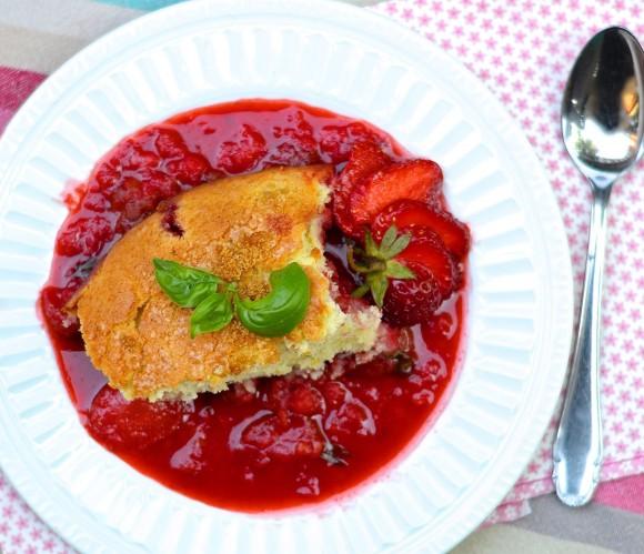 pudding fraise basilic et citron