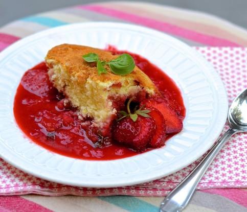 pudding d'été fraise-basilic-citron