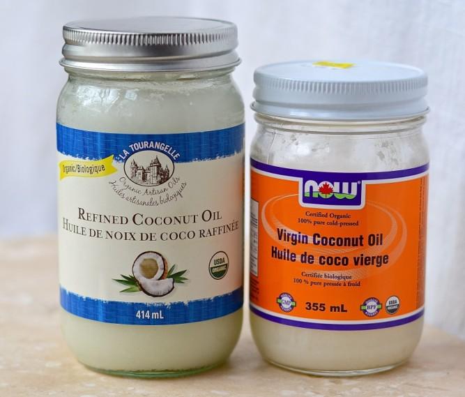 huile de coco vierge vs. raffinée / virgin vs. refined coconut oil