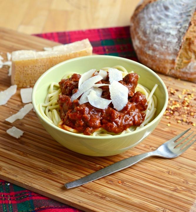 Sauce à spaghetti épicée (sauce à la viande)